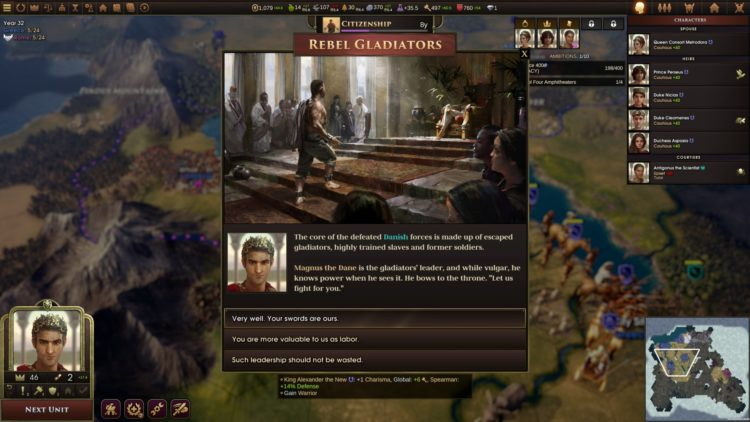 Old World Early Access Preview Impressions 4x Civilizations Crusader Kings Alexander Gladiators