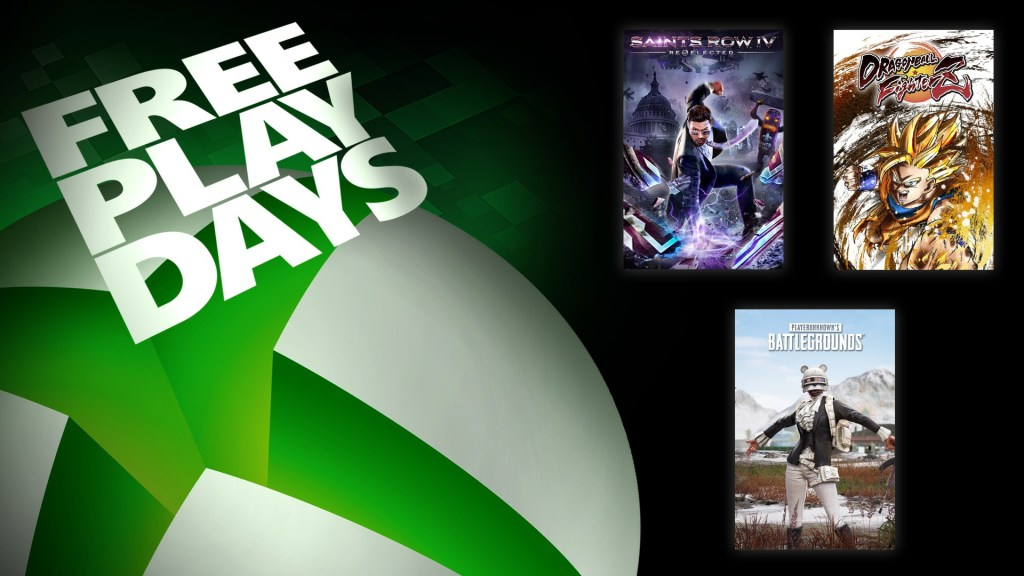 Free Play Days – PlayerUnknown's Battlegrounds, Dragon Ball FighterZ, and Saints Row IV: Re-Elected