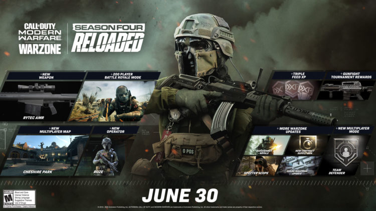 Call Of Duty Warzone Season 4 Update Banner infinity ward activision