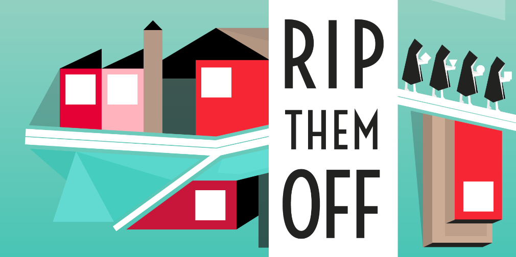 Rip Them Off is a satirical puzzler about overwhelming corporate greed