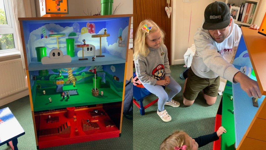 Uncle Creates Amazing Super Mario World Play Set For His Niece - Feature