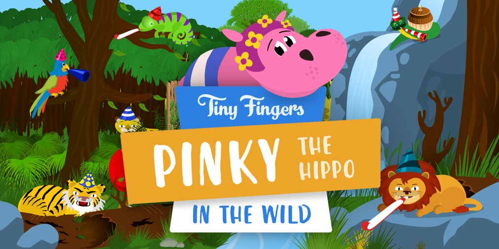 Pinky the Hippo: In the Wild is a colourful educational game for iOS devices