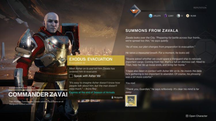 Destiny 2 Season Of Arrivals Traveler's Chosen Exotic Sidearm Exodus Evacuation Guide 1a