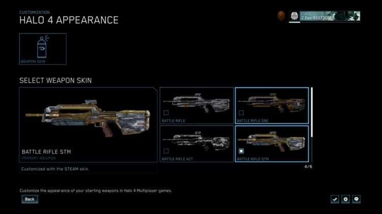 Halo: the master chief collection update H4 Battle Rifle Skin