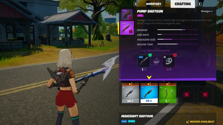 Fortnite Crafting Inventory