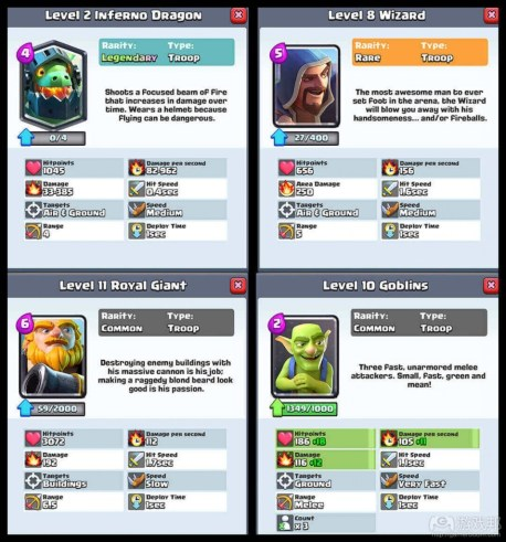 clash royale cards(from gamasutra.com)