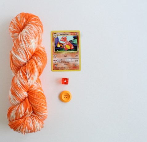 Charmander Ember pokemon themed yarn by GamerCrafting