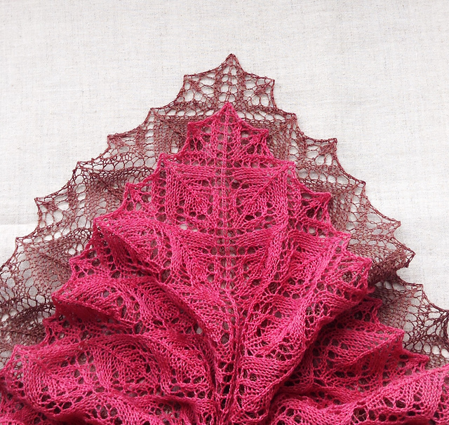Free shawl knitting pattern by Tetiana Otruta