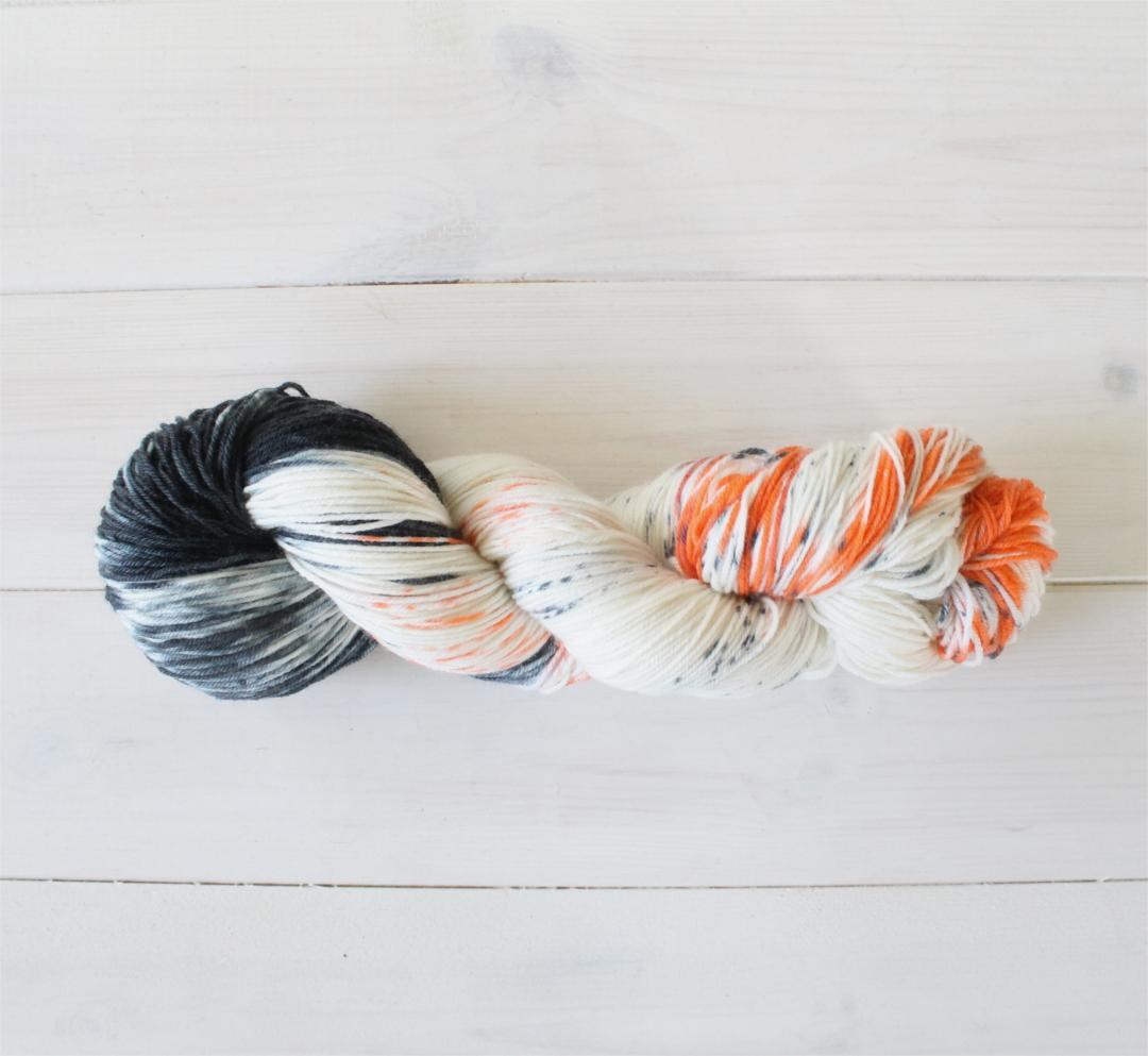 Hand Dyed Yarn Orange Soda