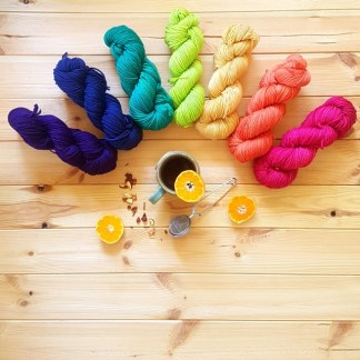Semi solid hand dyed yarns