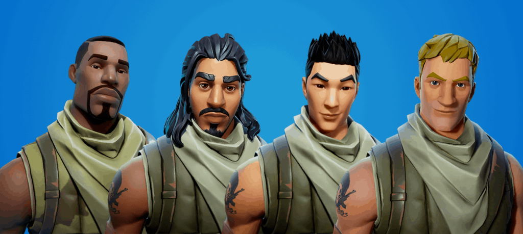 All male default skins in Fortnite