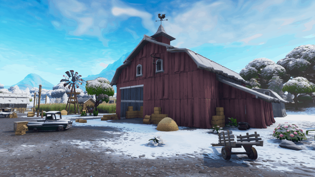 Red shed in Fatal Fields, Fortnite season 7