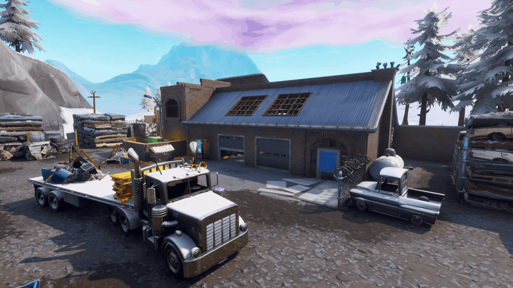 Truck and house in Junk Junction, Fortnite season 7