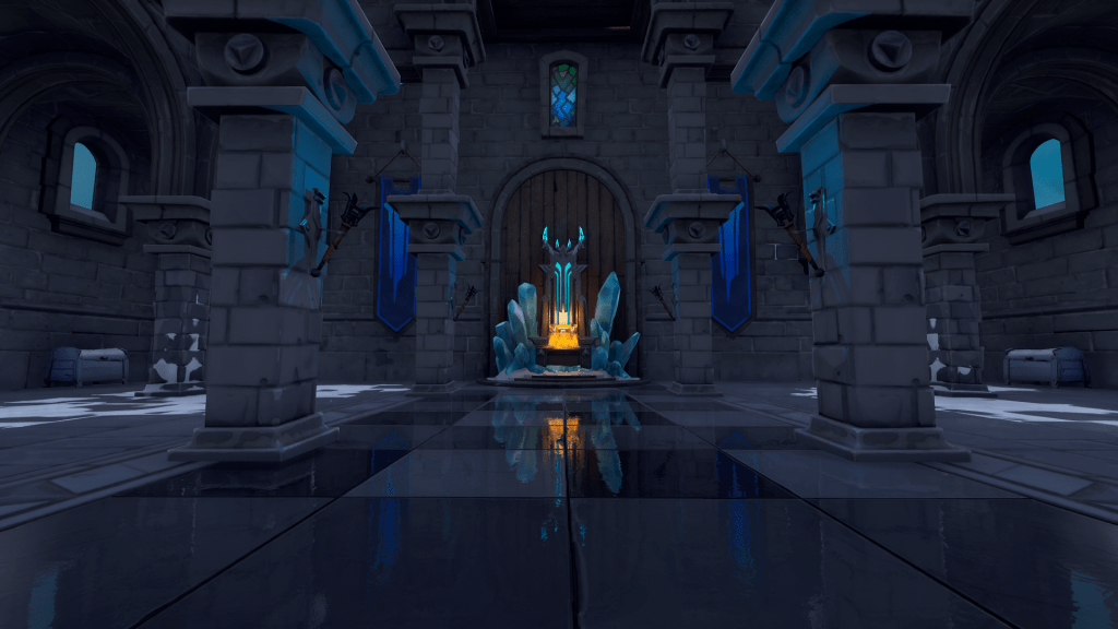 Ice King's lair in Polar Peak, Fortnite season 7