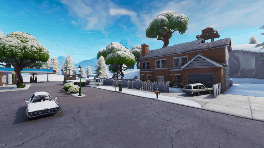 Red house in Salty Springs, Fortnite season 7