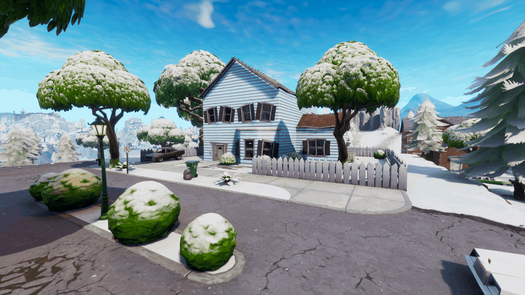 Blue house in Salty Springs, Fortnite season 7