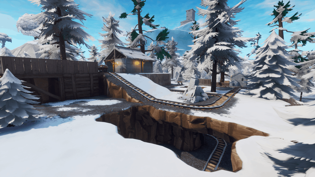 Railtracks in Shifty Shafts, Fortnite season 7