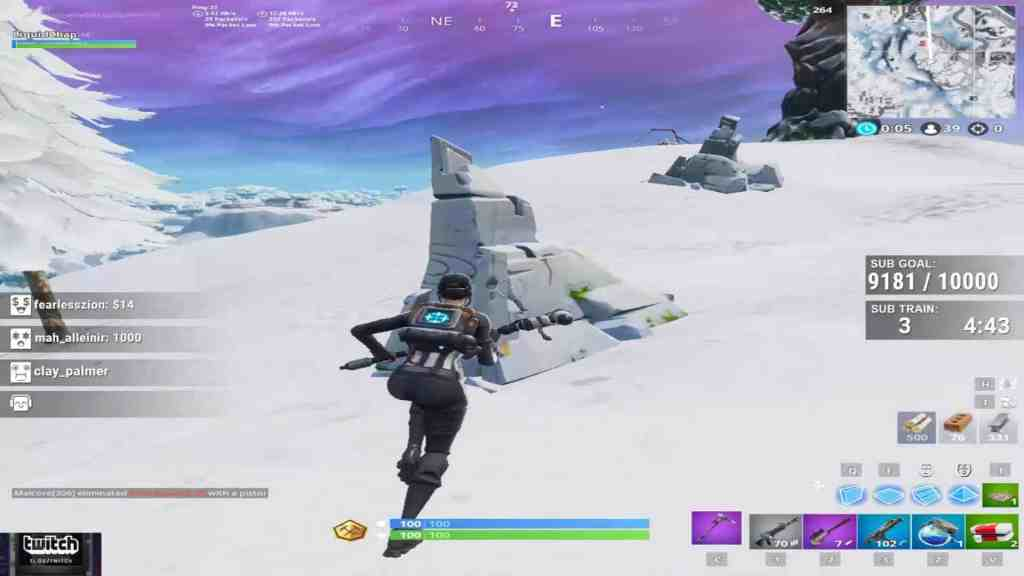 Stretched resolution used by Chap in Fortnite