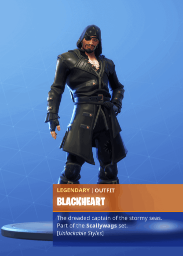 Fortnite Blackheart skin stage 1 season 8 battle pass