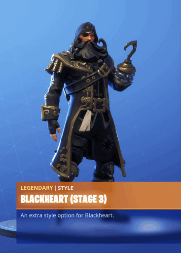 Fortnite Blackheart skin stage 3 season 8 battle pass