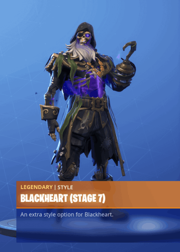 Fortnite Blackheart skin stage 7 season 8 battle pass