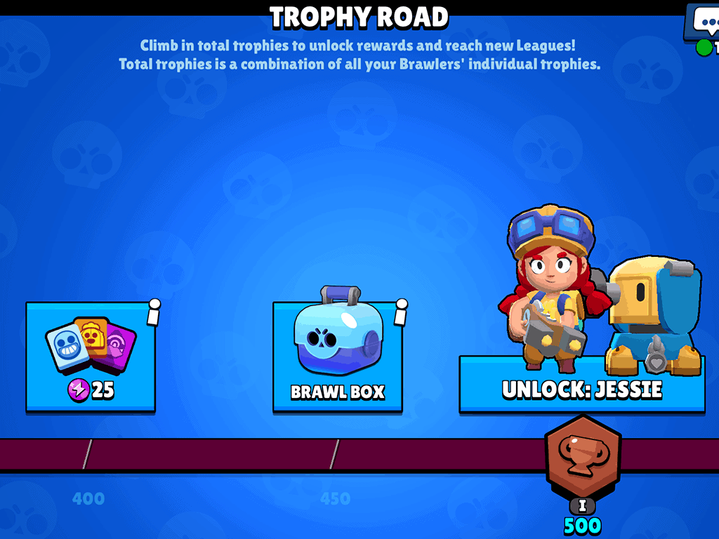 Brawl box reward in trophy road Brawl Stars