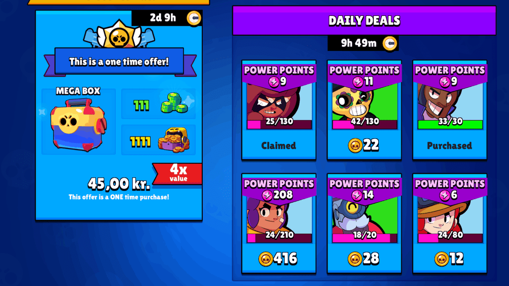 Daily deals in shop Brawl Stars