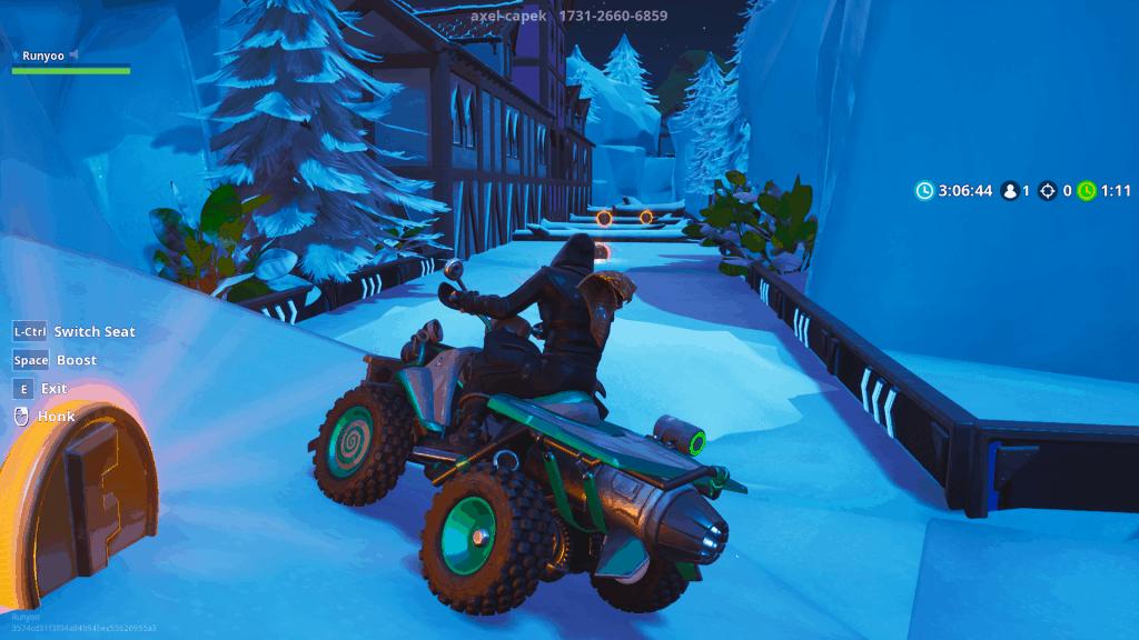 Fury Racing Snowy Summit map code Fortnite creative mode