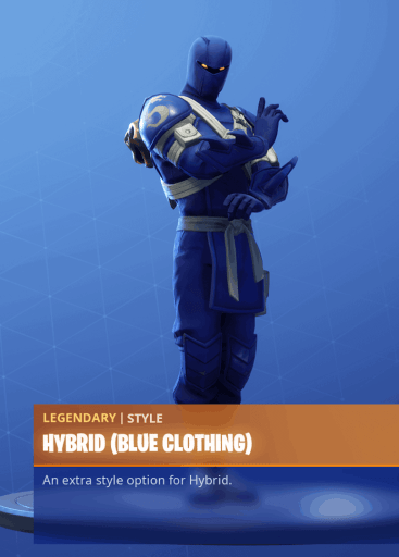 Fortnite Hybrid skin blue clothing style season 8 battle pass