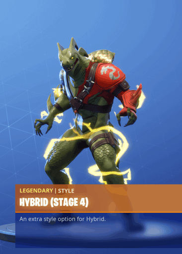 Fortnite Hybrid skin stage 4 season 8 battle pass