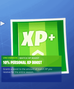 Tier 2 10% personal XP boost