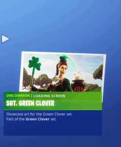 Tier 22 SGT Green Glover loading screen