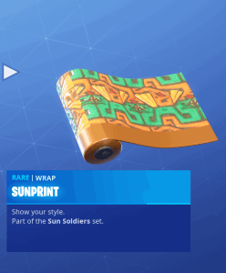 Tier 43 Sunprint wrap