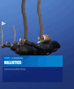 Tier 85 Ballistics contrail