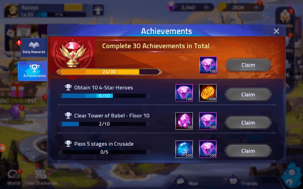 Advance Stone from Achievements in ML Adventure