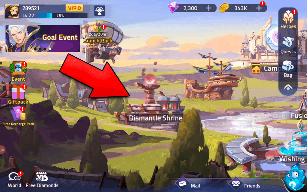 Dismantle Shrine Mobile Legends Adventure