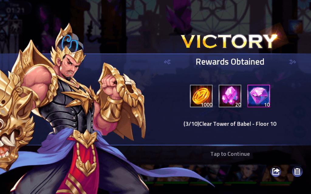 Tower of Babel rewards Mobile Legends Adventure