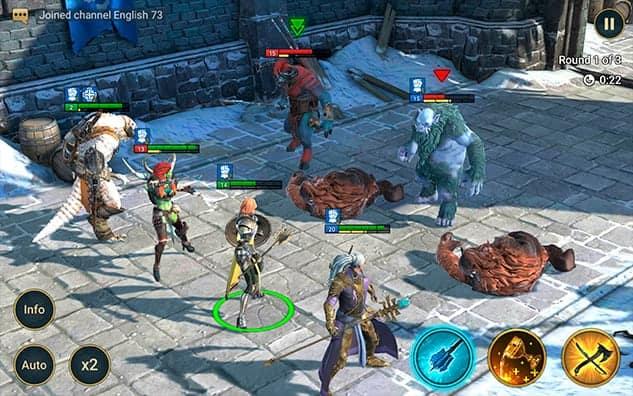 RAID Shadow Legends in battle gameplay