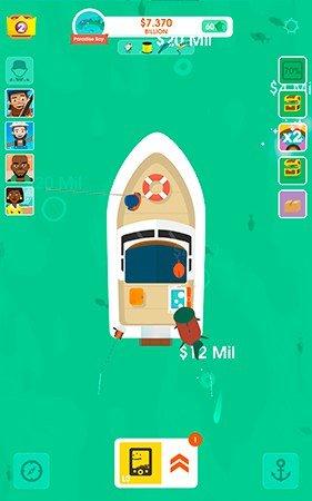 Hooked Inc Fisher Tycoon gameplay screenshot