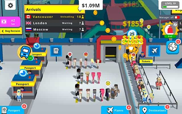 Idle Tap Airport gameplay screenshot