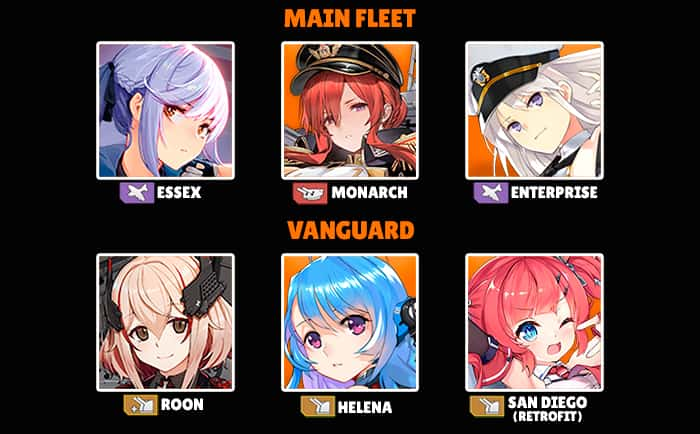 Azur Lane best fleet example Rorona