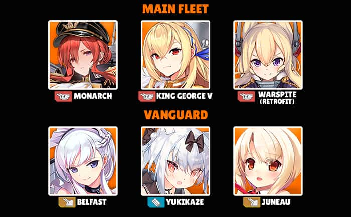 Azur Lane best fleet example Vieille Garde