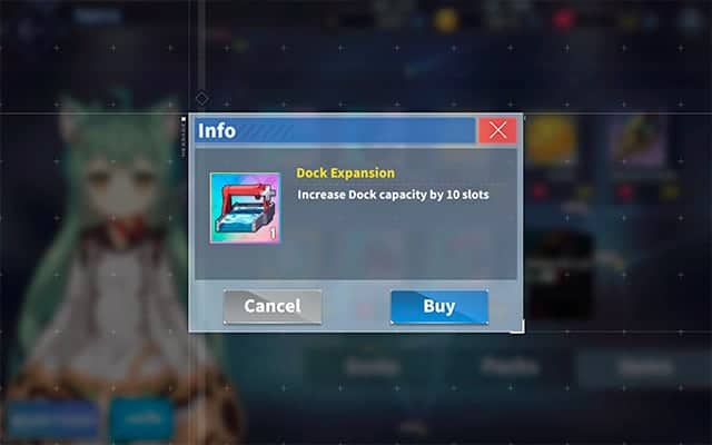Azur Lane dock expansion item