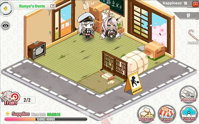 Azur Lane dorm room screenshot