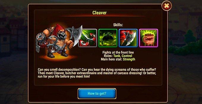 Hero Wars Cleaver hero