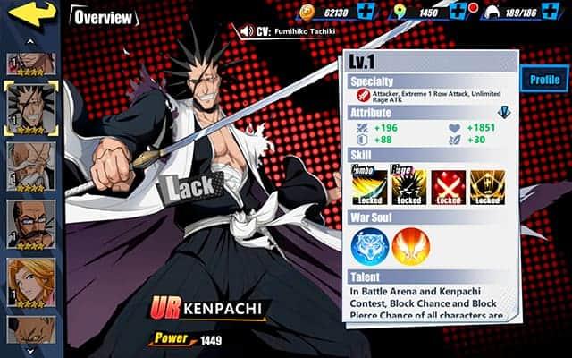 Bleach Immortal Soul Kenpachi Character