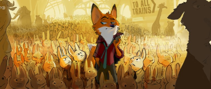 """A fast-talking fox is framed for a crime he didn't commit in Walt Disney Animation Studios' """"Zootopia"""" (working title)—in theaters in 2016. ©2013 Disney. All Rights Reserved."""