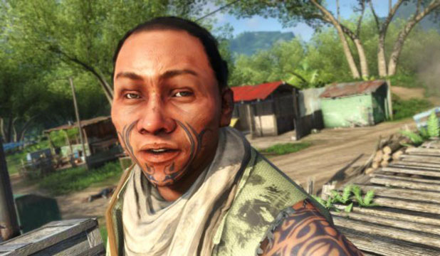 051212. Photo taken from internet.  Still image from Far Cry 3 game, where Maori are depicted as the villagers. Playstation/XBox game.