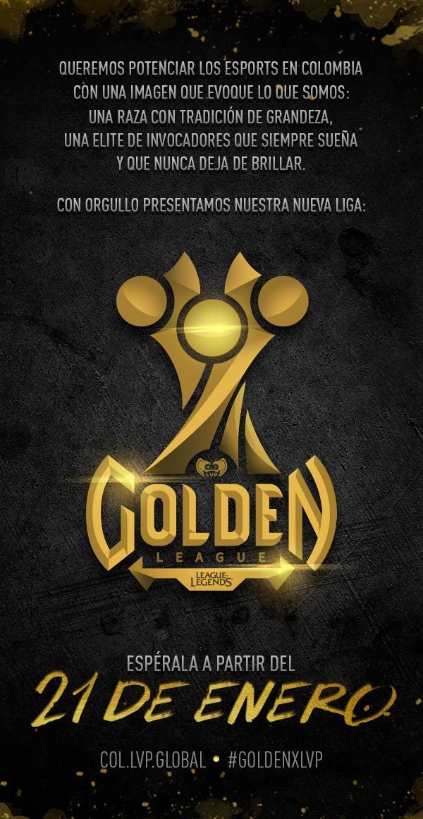 Golden League - Esports - Colombia - League of Legends