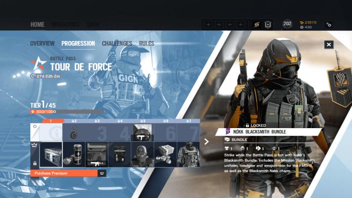Tour De Force premium reward track